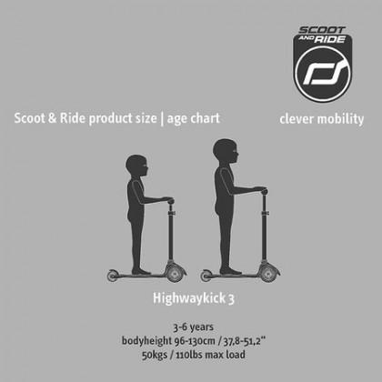 Scoot N Ride Highwaykick 3 Scooter - Lemon