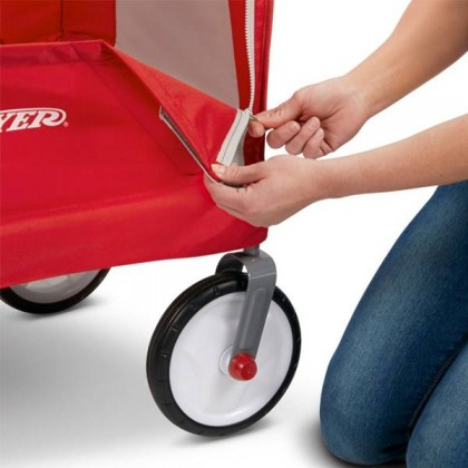 Radio Flyer EZ Folding Wagon with Canopy for kids and cargo