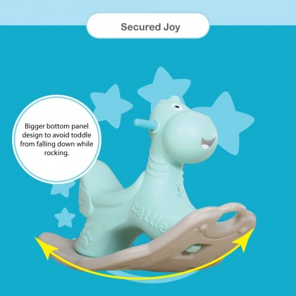 Lolly Gummy Indoor/Outdoor Playset / Playground Rocking Cattle -Tiffany Blue