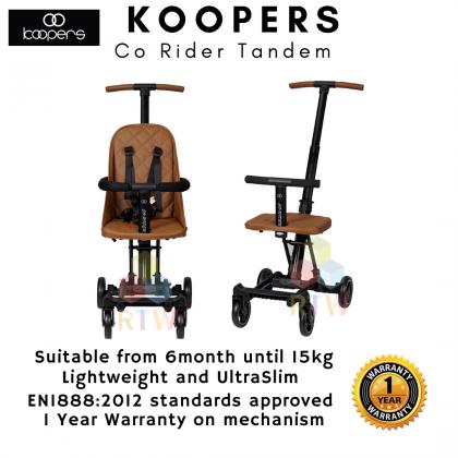 Koopers Co-rider Tandem Convertible Rider - Camel