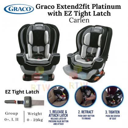 Graco Extend2fit Platinum with EZ Thight Latch - Carlen