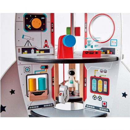 Hape Four-Stage Rocket Ship, Wooden Playscape